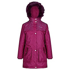 Regatta - Red 'Halimah' girls waterproof hooded parka jacket