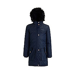 Regatta - Blue 'Halimah' girls waterproof hooded parka jacket