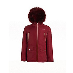 Regatta - Red 'Pecola' girls waterproof hooded parka jacket