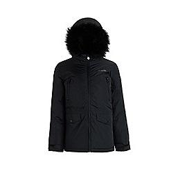 Regatta - Black 'Pecola' girls waterproof hooded parka jacket