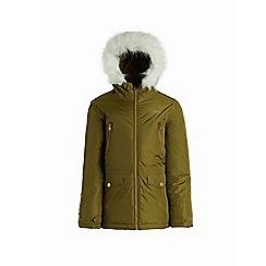 Regatta - Green 'Pecola' girls waterproof hooded parka jacket