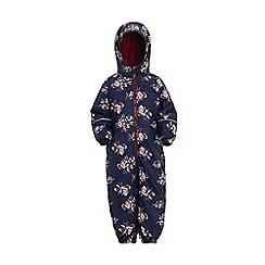 Regatta - Blue 'printed splat' kids waterproof suit