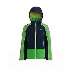 Regatta - Green 'Hydrate' kids 3 in 1 waterproof hooded jacket