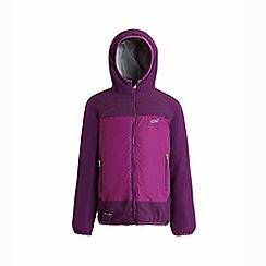 Regatta - Purple 'Volcanics' kids waterproof jacket