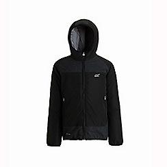 Regatta - Black 'Volcanics' kids waterproof jacket