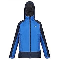 Regatta - Blue 'Riker' kids waterproof hooded jacket