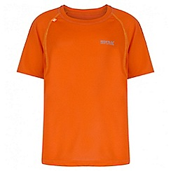Regatta - Kids' orange diverge reflective trim t-shirt