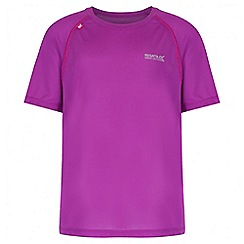 Regatta - Girls' purple diverge reflective trim t-shirt
