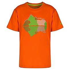 Regatta - Boys' orange alvarado print t-shirt