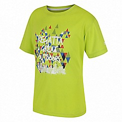 Regatta - Boys' green 'Alvarado' print t-shirt