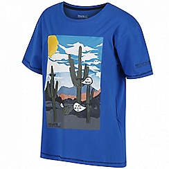 Regatta - Boys' blue 'Bosley' print t-shirt