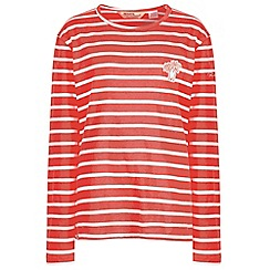 Regatta - Red 'Carella' kids striped top