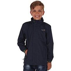 Regatta - Boys' navy greenhill waterproof jacket