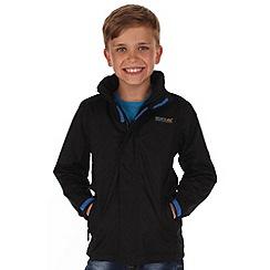 Regatta - Black kids greenhill waterproof jacket