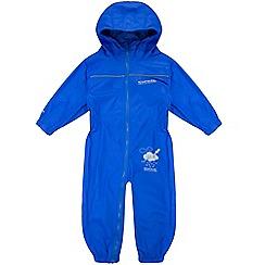 Regatta - Kids Blue Puddle waterproof onesie