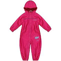 Regatta - Girls Pink kids puddle waterproof onesie