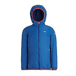 Regatta - Blue 'Lever' kids waterproof jacket