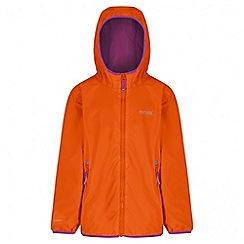 Regatta - Girls' orange lever waterproof jacket