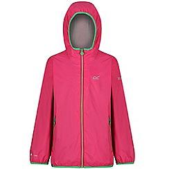 Regatta - Pink 'Lever' kids waterproof jacket