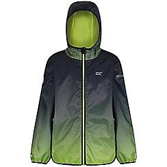 Regatta - Black 'printed lever' kids waterproof jacket