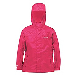 Regatta - Kids Pink Packable waterproof jacket