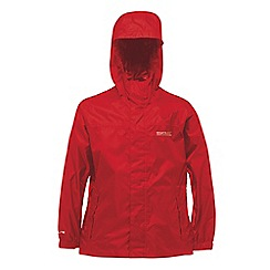 Regatta - Kids Red Packable waterproof jacket