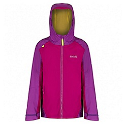 Regatta - Girls' pink allcrest waterproof jacket