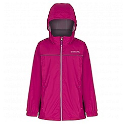 Regatta - Girls' pink fieldfare waterproof jacket