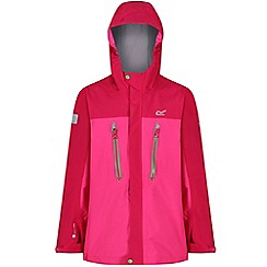 Regatta - Pink 'Hipoint' kids stretch waterproof jacket