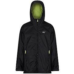 Regatta - Black 'Allcrest' kids waterproof jacket