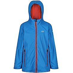 Regatta - Blue 'Allcrest' kids waterproof jacket