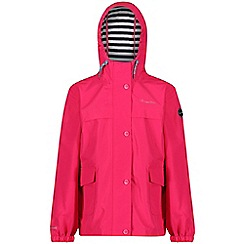 Regatta - Pink 'Betulia' kids waterproof jacket