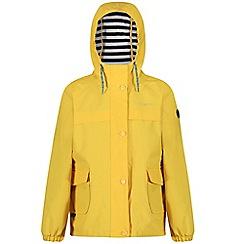 Regatta - Yellow 'Betulia' kids waterproof jacket
