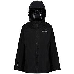 Regatta - Black 'Gabiel' kids waterproof jacket