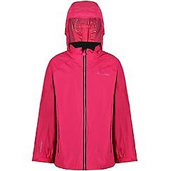 Regatta - Pink 'Gabiel' kids waterproof jacket