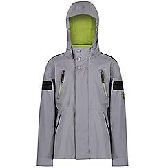Regatta - Grey 'Saban' kids waterproof jacket