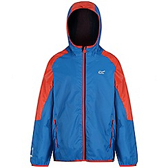 Regatta - Blue 'Teega' kids waterproof jacket
