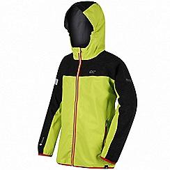 Regatta - Boys' green 'Deviate' waterproof jacket
