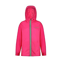 Regatta - Pink kids 'pack it' waterproof jacket