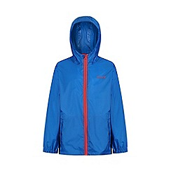 Regatta - Blue kids 'pack it' waterproof jacket