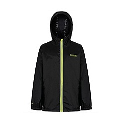 Regatta - Black kids 'pack it' waterproof jacket