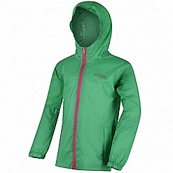 Regatta - Girls' green 'pack it' waterproof jacket