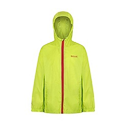 Regatta - Green kids 'pack it' waterproof jacket