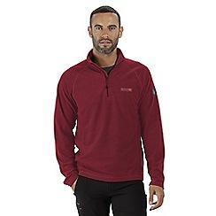 Regatta - Red 'Montes' half zip fleece