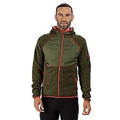 Regatta - Green 'Rocknell' hybrid fleece hoody