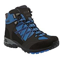 Regatta - Grey/blue samaris mid lightweight walking boot