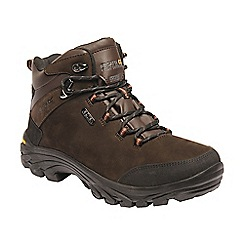 Regatta - Brown 'Burrell' leather walking boots