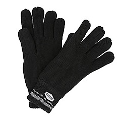Regatta - Black 'Balton' knit gloves