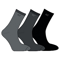 Regatta - Grey mens triple sock set
