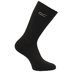 Regatta - Black 5 pack thermal socks
